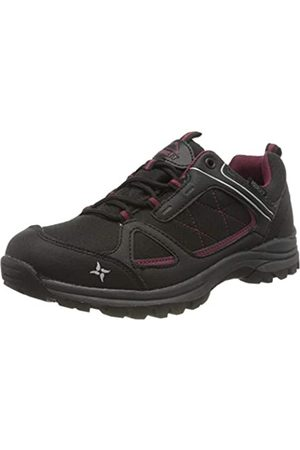 mc kinley Women's Multifunktionsschuh Maine Aq Low Rise Hiking Shoes, (Schwarz/Rot/Weinrot 000)