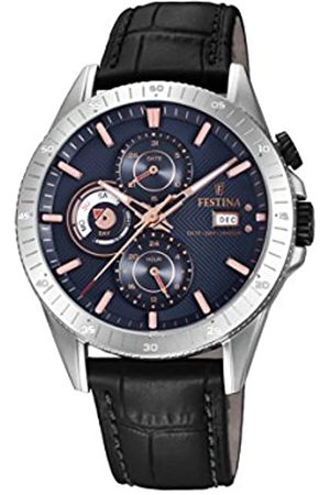 Festina Mens Analogue Quartz Watch with Leather Strap F16990/2