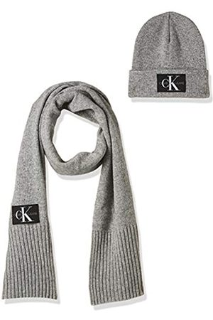 Calvin Klein Men's J Basic Knitted Scarf+Beanie