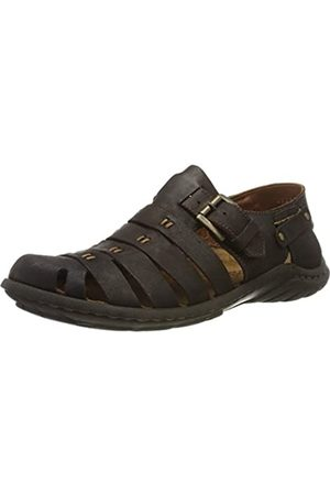 Josef Seibel Men's Logan 04 Closed Toe Sandals, (Espresso 92 360)