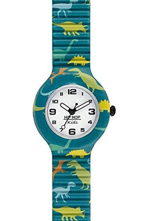 Hip HIP-HOP Kid's Kids Fun Watch Collection Mono-Colour dial 3 Hands Quartz Movement and Silicon Green Strap HWU0816