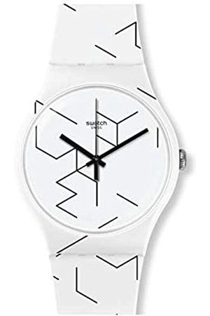 Swatch Unisex Adult Analogue Quartz Watch with Silicone Strap SUOW164
