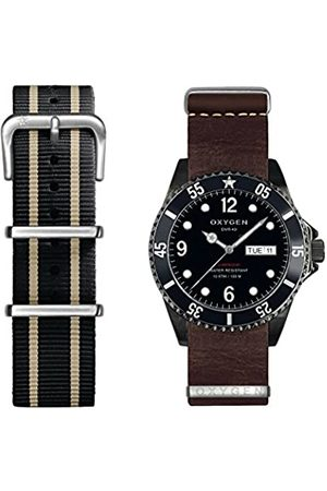 Oxygen Moby Dick 40 Mens Quartz Watch with Dial Analogue Display and Leather Strap EX-D-MBB-40-2S