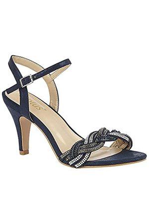 Lotus Women's Jasmine Open Toe Heels, (Navy Ej)