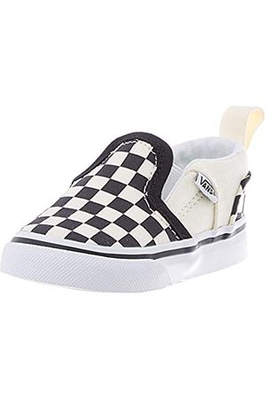 Vans Baby Asher V Toddler Unisex Trainers, ((Checkers) /Natural Ipd)