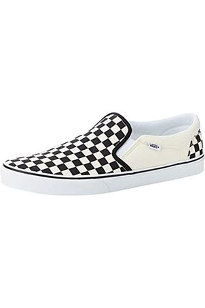 Vans Men's Asher Slip On Trainers, ((Checkers) /Natural Ipd)