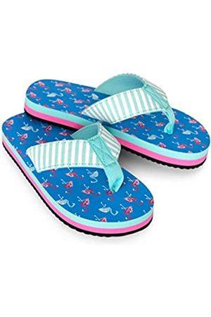 Hatley Girls Flip Flops, (Fancy Flamingos 400)