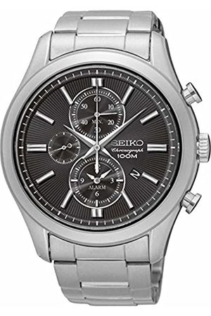 Seiko Mens Chronograph Quartz Watch with Stainless Steel Strap SNAF67P1