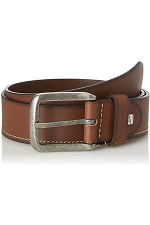 Lindenmann Mens leather belt/Mens belt, full grain leather belt, cognac, Größe/Size:90