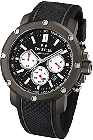 TW steel Unisex Adult Chronograph Quartz Watch with Silicone Strap TS12
