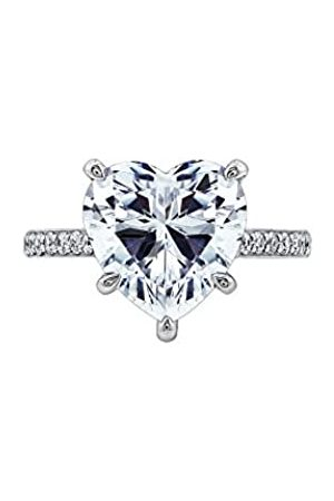 "LA LUMIERE Platinum-Plated Sterling Silver Celebrity ""Gaga"" Ring made with Swarovski Zirconia Accents"