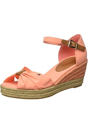 Tommy Hilfiger Women's Basic Opened Toe Mid Wedge Sandals, (Island Coral Sn7)