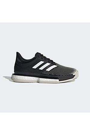 adidas Women's Solecourt Boost W Clay Fitness Shoes, (Negro 000)