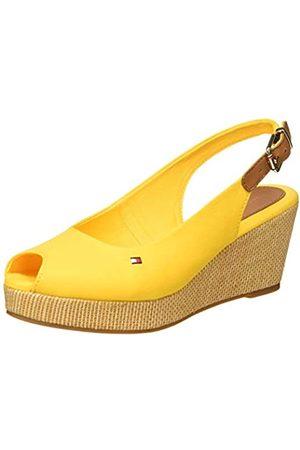 Tommy Hilfiger Women's Iconic Elba Sling Back Wedge Open Toe Sandals, (Sunny Zek)