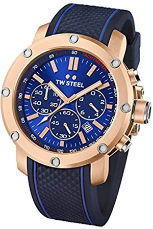TW Steel Men's Quartz Watch with Dial Chronograph Display and Silicone Strap TS3