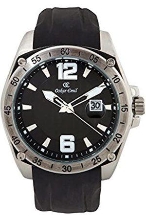 Oskar Emil Oskar-Emil Classic Sports Design Cayenne Men's Quartz Watch with Dial Analogue Display and Silicone Strap