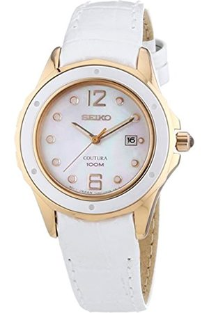Seiko Womens Analogue Quartz Watch with Leather Strap SXDE82P1