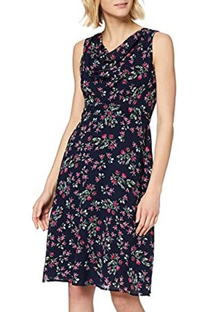 Mela Women's Little Rose Flower Cowl Neck Dress Casual