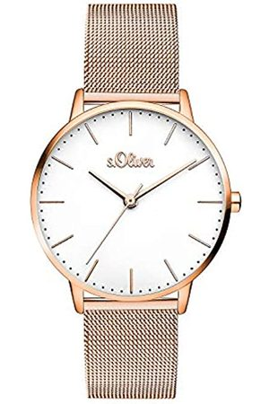 s.Oliver Women's Analogue Quartz Watch with Stainless Steel Strap SO-3446-MQ