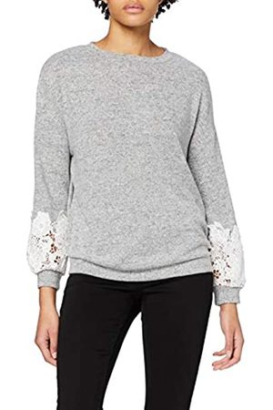 Dorothy Perkins Women's Brushed Lace Sleeve Insert Top Blouse