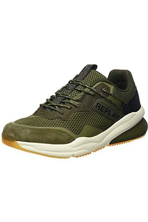 Replay Men's Boston - Blinman Low-Top Sneakers, (Military Grn 39)
