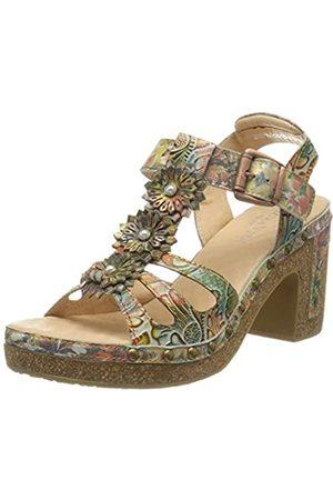 LAURA VITA Women's Hecalo 03 Platform Sandals, (Café Café)