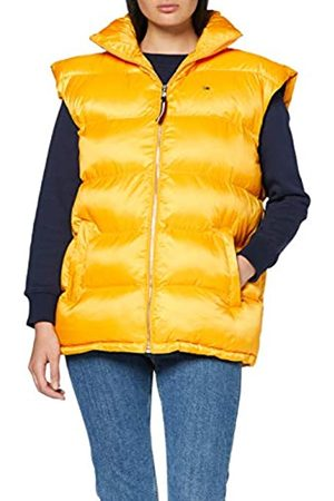 Tommy Jeans Women's Oversized Vest Sleeveless Banded Collar Down Sports Gilet