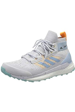 adidas Women's Terrex Free Hiker Parley Walking Shoe, Dshgry/Easblu/Reagol