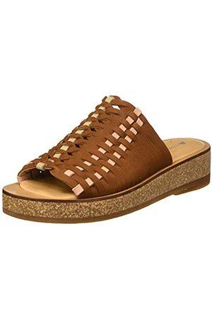 El Naturalista Women's N5593 Pleasant TÜLBEND Open Toe Sandals, (Wood Wood)