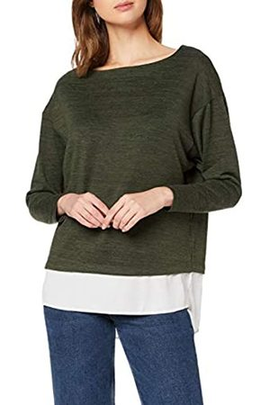 Dorothy Perkins Women's Khaki Batwing 2 in 1 Top Blouse