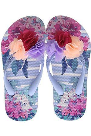 Joules Girls Flip Flops, ( Floral Stripe Bluflrlstp)