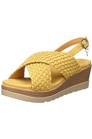 Leatherman Women's 44004 Platform Sandals, (Amarillo Amarillo)