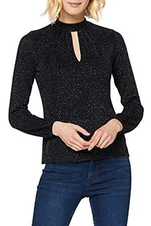 New Look Women's GO Glitter LS Keyhole CLLR TOP Shirt