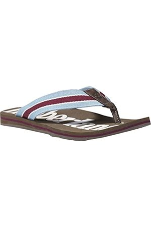 Timberland Men's Wild Dunes Fabric and Leather Flip Flops, (Olive Webbing)