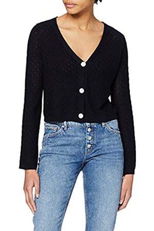 Dorothy Perkins Women's Navy Crop Cardigan Sweater