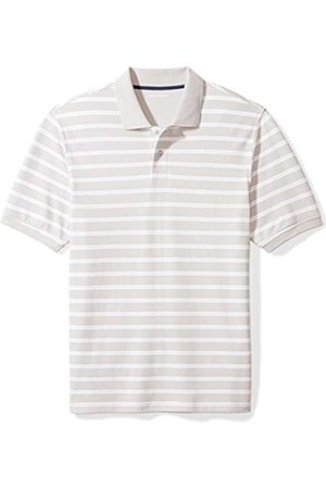 Amazon Regular-fit Striped Cotton Pique Polo Shirt