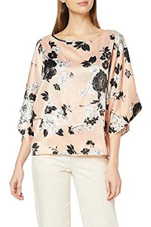 Dorothy Perkins Women's Blush Foil Split 3/4 Sleeve Top Blouse