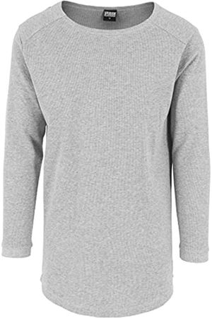 Urban classics Men's Shaped Waffle Long Sleeve Tee Top