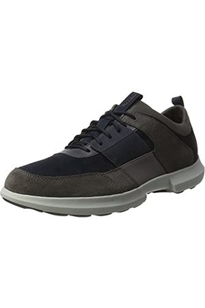 Geox Men's U Traccia B Low-Top Sneakers, (Navy/Anthracite)