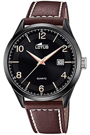 Lotus Mens Analogue Quartz Watch with Leather Strap 18636/1