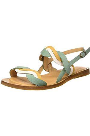 El Naturalista Women's N5188 Pleasant Tulip Open Toe Sandals, (Mint Mixed Mint Mixed)