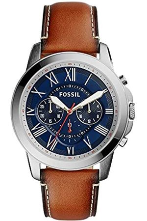 Fossil Mens Chronograph Quartz Watch with Leather Strap FS5210IE