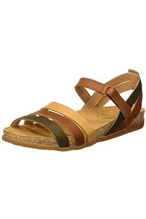 El Naturalista Women's N5244 Multi Leather Zumaia Open Toe Sandals, (Cuero Mixed Cuero Mixed)