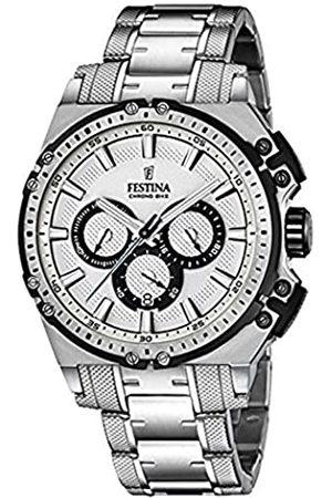 Festina CHRONO BIKE 2016 Men's Quartz Watch with Dial Chronograph Display and Stainless Steel Bracelet F16968/1