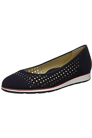 ARA Women's Sardinia Closed Toe Ballet Flats, (Blau 08)