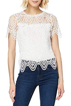 New Look Women's T CROCHET LACE FRILL TEE Shirt