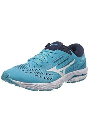 Mizuno Women's Wave Stream 2 Neutralschuh Damen-Türkis, Schwarz Running Neutral Shoe, Atoll/ /Dress Blues