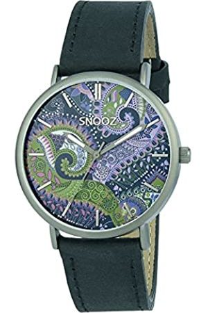 Snooz Men's Analogue Quartz Watch with Leather Strap Saa1041-85