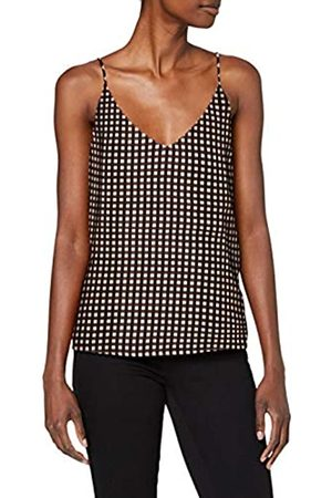 Scotch & Soda Women's Printed Jersey Tank Top with Woven Front Panel Vest