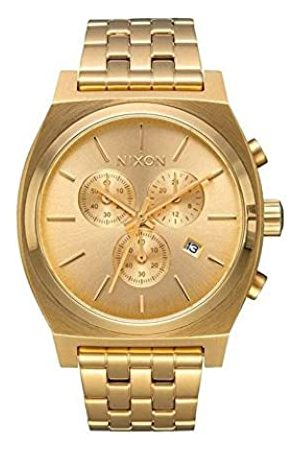 NIXON Unisex Analogue Quartz Watch with Stainless Steel Plated Strap A972-502_Goldtone